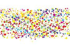 Colorful bright ink splat design royalty free illustration