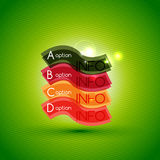Colorful bright light shiny option banner Stock Images