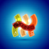 Colorful bright light shiny option banner Stock Photo