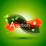 Colorful bright light shiny option banner Stock Image