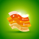 Colorful bright light shiny option banner Stock Photos