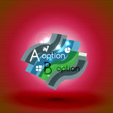Colorful bright light shiny option banner Royalty Free Stock Photo