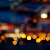 Colorful bright lights on dark night background Royalty Free Stock Photos