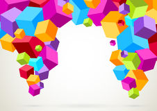 Colorful bright lightweight cubes Stock Images