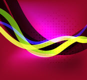 Colorful bright lines background design Royalty Free Stock Photos