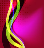 Colorful bright lines background design Royalty Free Stock Images