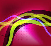 Colorful bright lines background design Stock Photo