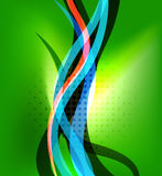 Colorful bright lines background design Royalty Free Stock Photography