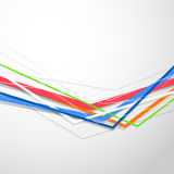 Colorful bright lines modern folder design template Royalty Free Stock Image