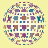 Colorful bright magic disco sphere. Colorful bright  magic disco sphere with close button wallpaper rendering Royalty Free Stock Photos