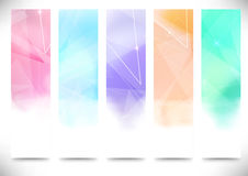 Colorful bright modern flyers collection Stock Images