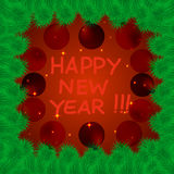 Colorful and bright New Year's background. Royalty Free Stock Image