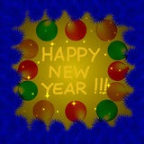 Colorful and bright New Year's background. Stock Photos