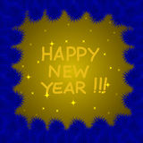 Colorful and bright New Years background. Stock Images