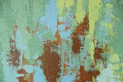 Colorful bright pattern with oil paints on canvas Stock Photos