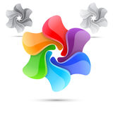 Colorful bright rainbow windmill design template. Vector illustration Royalty Free Stock Photo