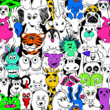 Colorful Bright Seamless Pattern With Animals. Stock Photography