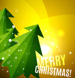 Colorful bright shiny Chrismas card Royalty Free Stock Images