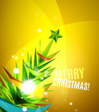 Colorful bright shiny Chrismas card Stock Photos