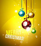 Colorful bright shiny Chrismas card Royalty Free Stock Photos