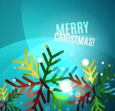 Colorful bright shiny Chrismas card Stock Photos