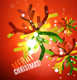 Colorful bright shiny Chrismas card Royalty Free Stock Photo