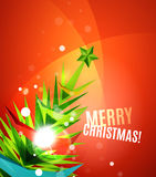 Colorful bright shiny Chrismas card Royalty Free Stock Photography