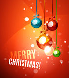 Colorful bright shiny Chrismas card Stock Images