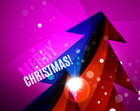 Colorful bright shiny Chrismas card Royalty Free Stock Photo