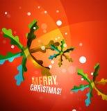 Colorful bright shiny Chrismas card Royalty Free Stock Image