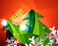 Colorful bright shiny Chrismas card Stock Images