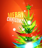 Colorful bright shiny Chrismas card Royalty Free Stock Image