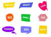 Colorful bright speech bubbles. vector illustration