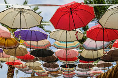 Colorful bright spots, umbrellas Stock Photography