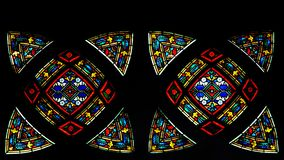Colorful and bright Stained Glass Royalty Free Stock Photos