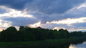 Sunset on the Moscow canal