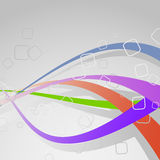 Colorful bright swoosh lines - background template Stock Photo