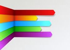 Colorful bright threedimensional infographics arro Stock Image