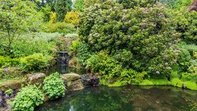 Colorful Britisch castle garden in Great Britain. Colorful British castle garden during spring in Sussex, England Royalty Free Stock Photos