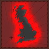 Colorful British map Royalty Free Stock Photography