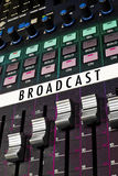 Colorful Broadcast Board royalty free stock photos