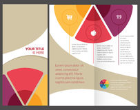 Colorful brochure. Colorful, corporate brochure, template design Stock Images