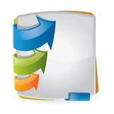 Colorful brochure design Royalty Free Stock Photography