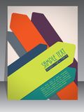 Colorful brochure design with arrow elements Stock Photo