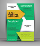 Colorful Brochure design. Flyer template for business. Education, presentation, website, magazine cove Stock Photo
