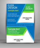 Colorful Brochure design. Flyer template for business. Education, presentation, website, magazine cover Stock Image