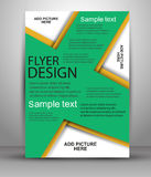 Colorful Brochure design. Flyer template for business. Colorful Brochure vector design. Flyer template for business, education, presentation, website, magazine Royalty Free Stock Image