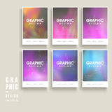 Colorful brochure template Royalty Free Stock Photos