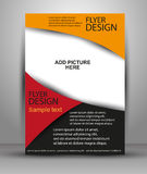 Colorful Brochure vector design. Flyer template for business Stock Image