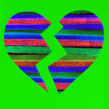 Colorful broken heart Stock Photography